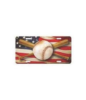 Vanity License Plate 12in x 6in - American Baseball