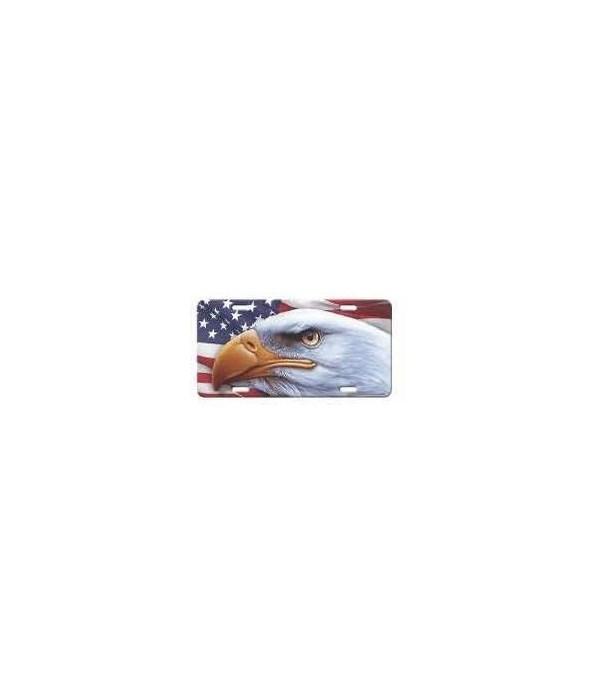 Vanity License Plate 12in x 6in - American Eagle