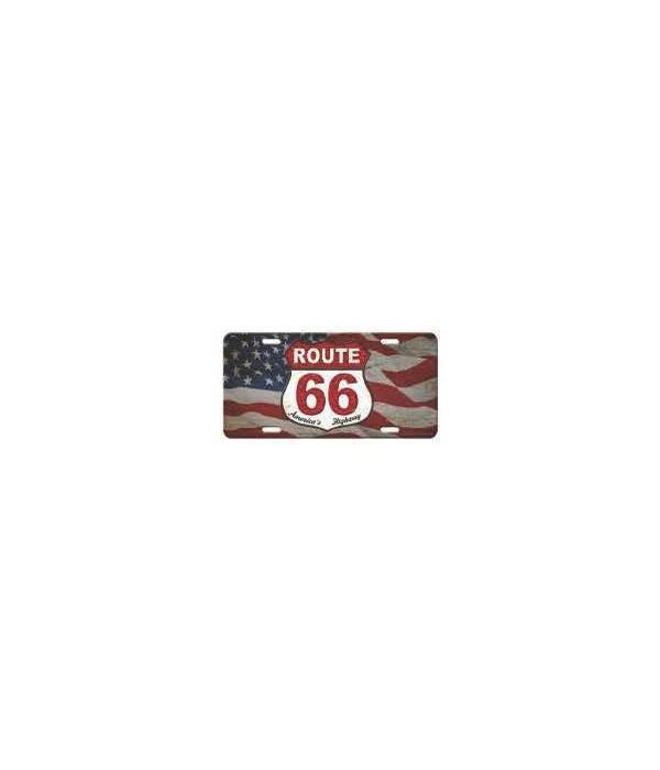 Vanity License Plate 12in x 6in - American Route 66