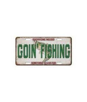 Vanity License Plate 12in x 6in - Goin' Fishing