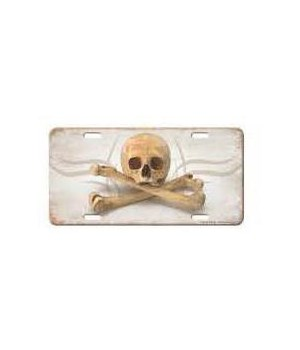 Vanity License Plate 12in x 6in - Skull and Crossbones