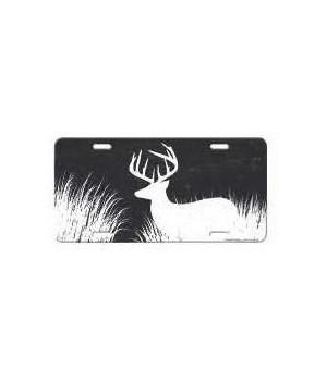 Vanity License Plate 12in x 6in - Deer Silhouette