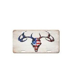Vanity License Plate 12in x 6in - Deer - Red, White, Blue