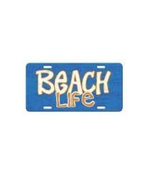 Vanity License Plate 12in x 6in - Beach Life