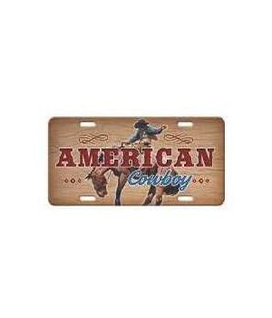 Vanity License Plate 12in x 6in - American Cowboy