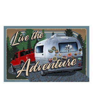 Door Mat Rubber 26in x 17in - Live Adventure