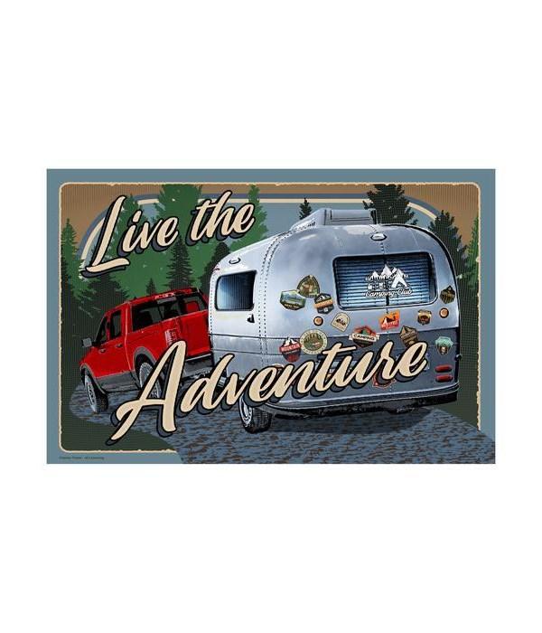 Door Mat Rubber 26in x 17in - Live Adventure