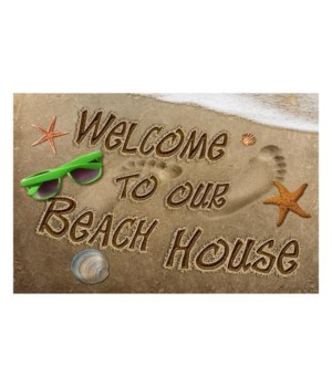 Door Mat Rubber 26in x 17in - Beach House