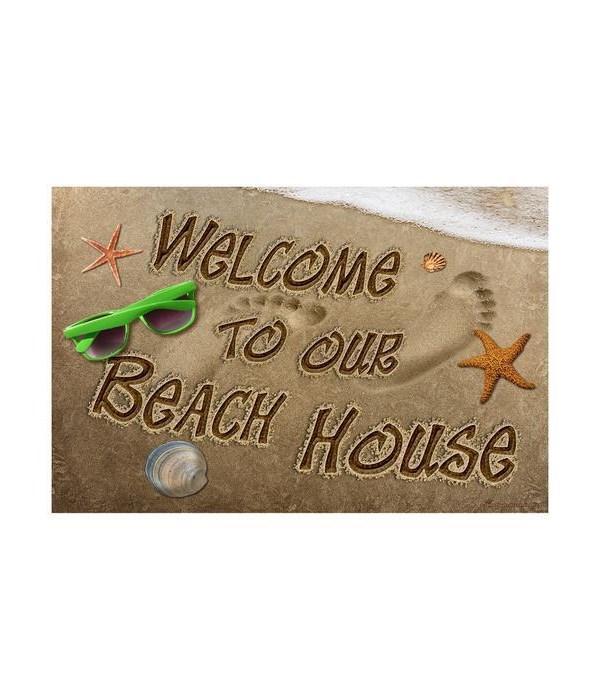 Door Mat Rubber 26in x 17in - Beach House