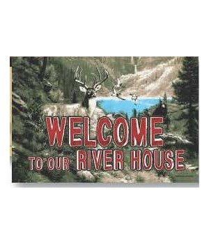 Door Mat Rubber 26in x 17in - River House