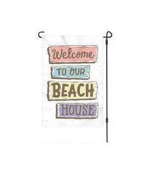 Lawn Flag with Pole - Beach House 14 x 22  in.