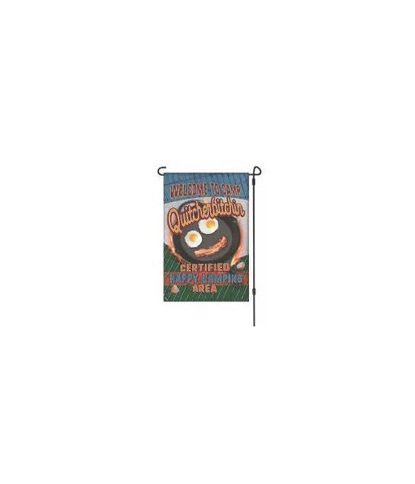 Lawn Flag with Pole - Camp Quitcher 14 x 22  in.