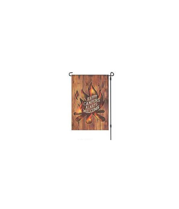 Lawn Flag with Pole - Campers Welcome 14 x 22  in.