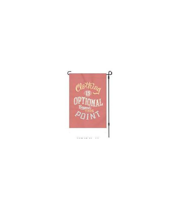 Lawn Flag with Pole - Clothing 14 x 22  in.