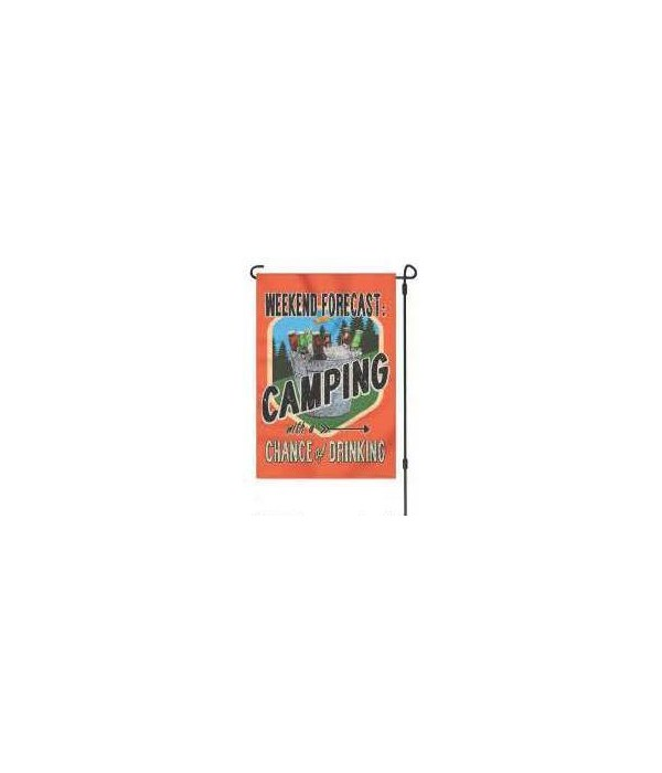 Lawn Flag with Pole - Forecast Camping 14 x 22  in.