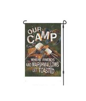 Lawn Flag with Pole - Friends Marshmallows 14 x 22  in.