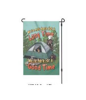 Lawn Flag with Pole - Good Time 14 x 22  in.