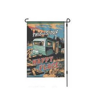 Lawn Flag with Pole - Happy Place 14 x 22  in.