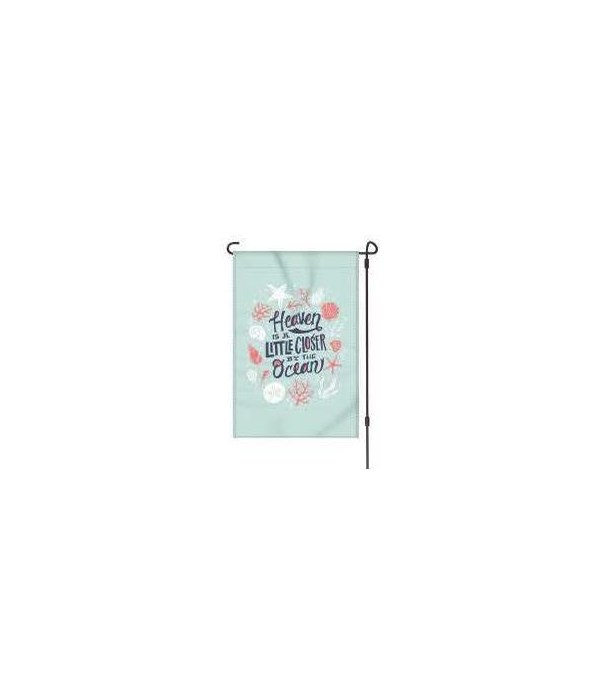 Lawn Flag with Pole - Heaven Ocean 14 x 22  in.