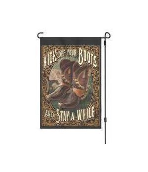 Lawn Flag with Pole - Kick Off Boots 14 x 22  in.