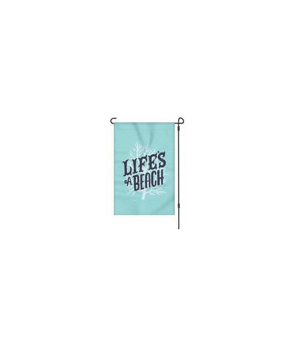 Lawn Flag with Pole - Life's a Beach 14 x 22  in.