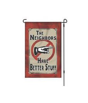 Lawn Flag with Pole - Neighbors 14 x 22  in.