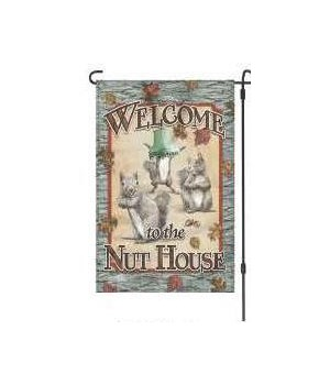 Lawn Flag with Pole - Nut House 14 x 22  in.