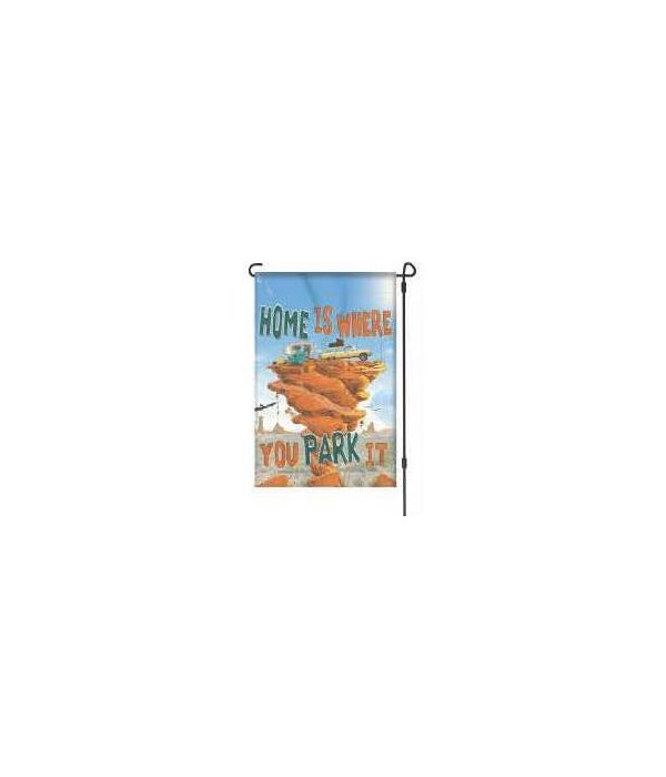 Lawn Flag with Pole - Park It 14 x 22  in.