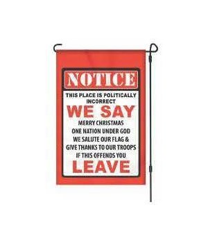 Lawn Flag with Pole - Politically Incorrect 14 x 22  in.