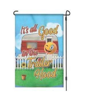 Lawn Flag  with Pole - Trailer Hood 14 x 22  in.