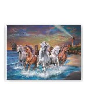Puzzle in Tin 1000-Piece - Horses on Seashore 20 x 28 in.