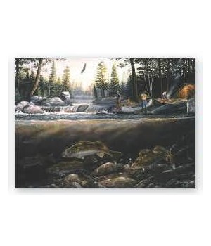 Puzzle in Tin 1000-Piece - Fishing the Falls 20 x 28 in.