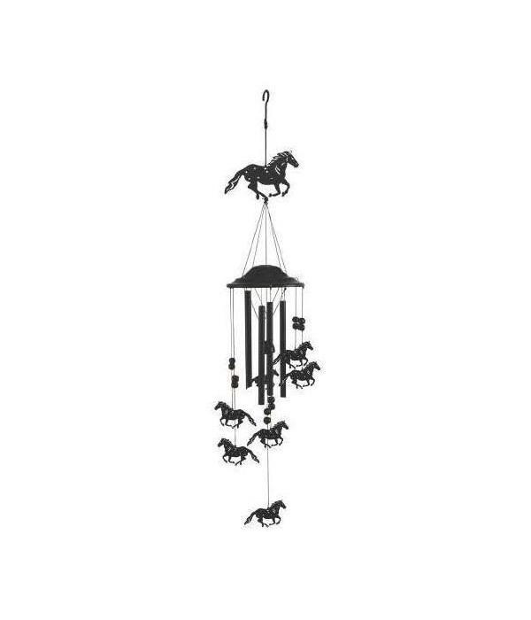 Wind Chime - Horse Black