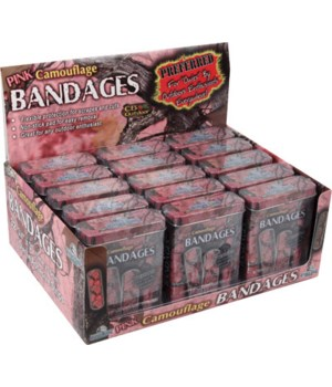 M15 Pink Camo Bandages 15-Piece Display