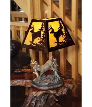 Table Lamp - Deer Metal Shade 23 in.