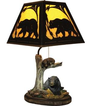 Table Lamp - Bear Metal Shade 23 in.