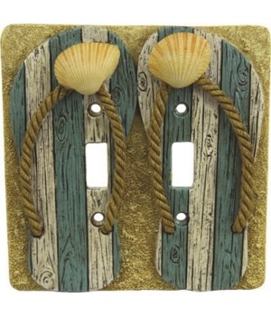 Switch Plate Cover Double - Beach