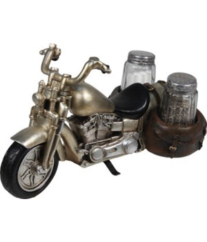 Salt and Pepper Shakers - Motorcycle 7.5 x 5.5 x 7.5 in.