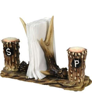 Salt and Pepper Shakers - Antler 7.5 x 5.5 x 7.5 in.