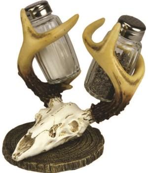 Salt and Pepper Shakers - Euro Deer 7.5 x 5.5 x 7.5 in.