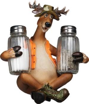 Salt and Pepper Shakers - Deer 7.5 x 5.5 x 7.5 in.
