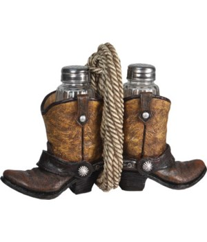 Salt and Pepper Shakers - Cowboy Boot 7.5 x 5.5 x 7.5 in.