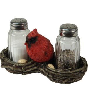 Salt and Pepper Shakers - Cardinal 7.5 x 5.5 x 7.5 in.