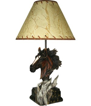 Table Lamp - Horse 23 in.