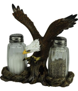 Salt and Pepper Shakers - Eagle 7.5 x 5.5 x 7.5 in.