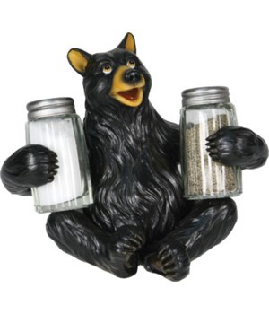 Salt and Pepper Shakers - Bear Glass 7.5 x 5.5 x 7.5 in.