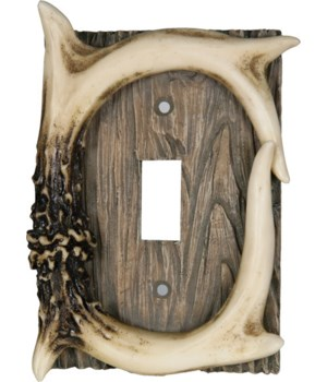 Switch Plate Cover Single - Antler