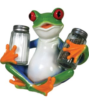 Salt and Pepper Shakers - Tree Frog 7.5 x 5.5 x 7.5 in.