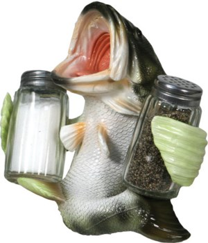 Salt and Pepper Shakers - Bass Holding 7.5 x 5.5 x 7.5 in.