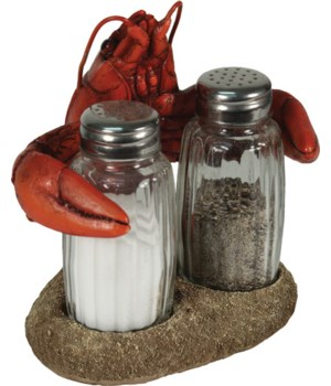 Salt and Pepper Shakers - Crawfish 7.5 x 5.5 x 7.5 in.
